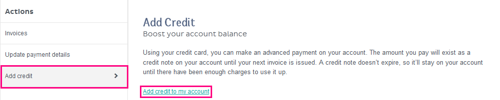 MyAccount screenshot