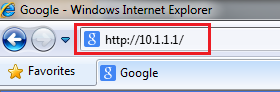 Internet Explorer browser bar screenshot